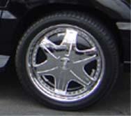 chrome wheel spinners
