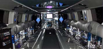 white H2 Hummer Interior
