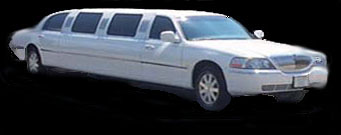 white Lincoln Town Car stretch limousine